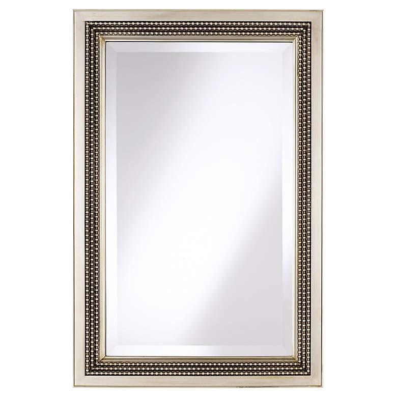 "Uttermost Triple Beaded Silver Leaf 23"" x 35"" Wall Mirror"