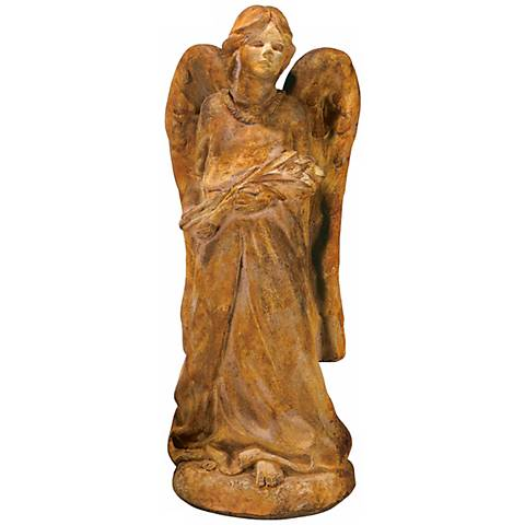 "Henri Studio Cast Stone Large Angel 29 1/2""H Garden Accent"