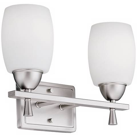 "Ferros ENERGY STAR® Nickel 14 1/4""  Wall Sconce"