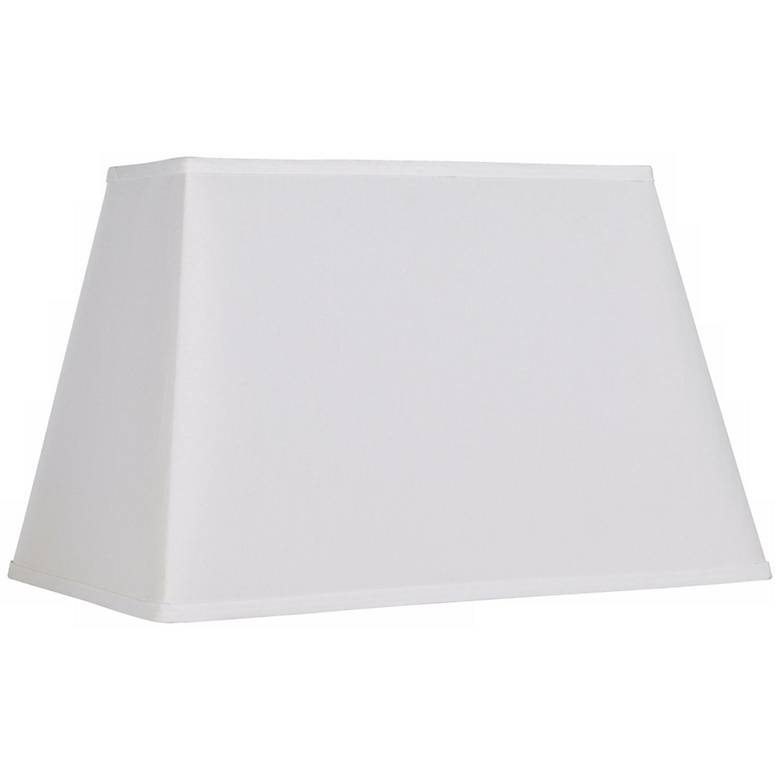 White Rectangular Shade 14/6x18/12x12  (Spider)