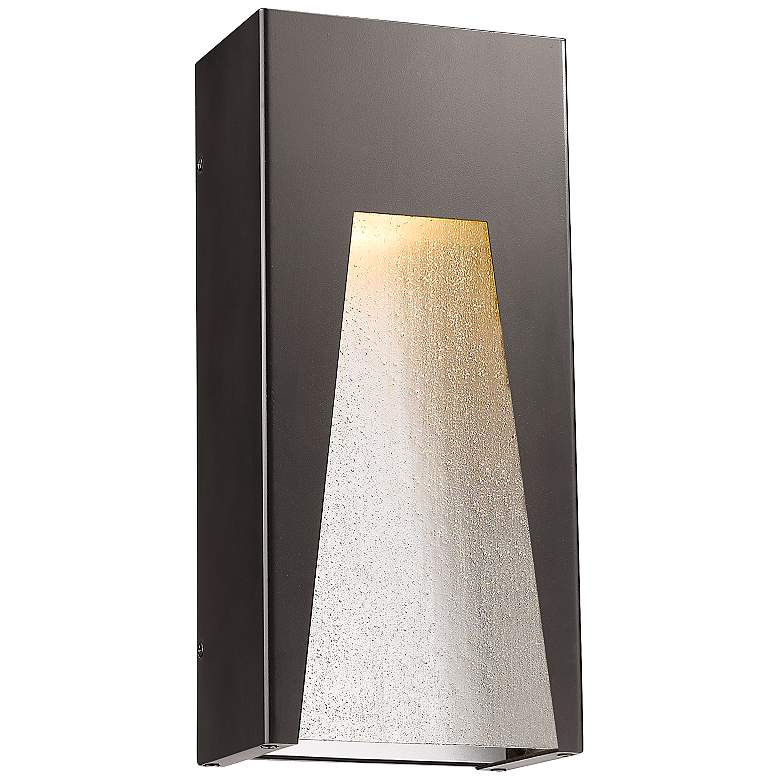 """Millenial 13 1/4""""H Bronze and Silver LED Outdoor Wall Light"""