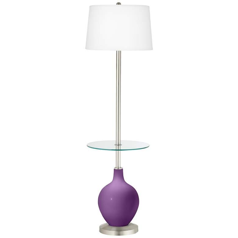 Passionate Purple Ovo Tray Table Floor Lamp