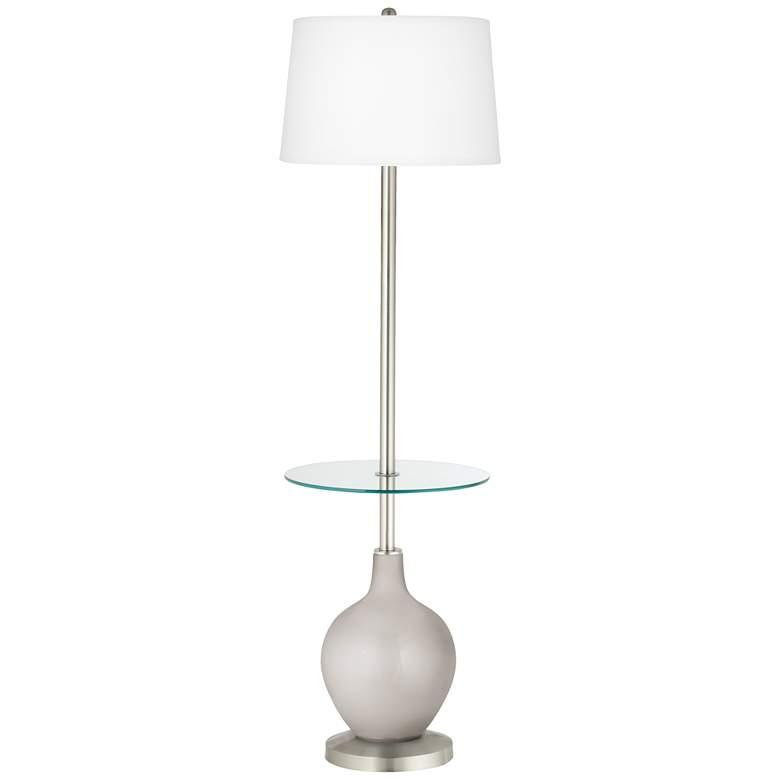 Silver Lining Metallic Ovo Tray Table Floor Lamp