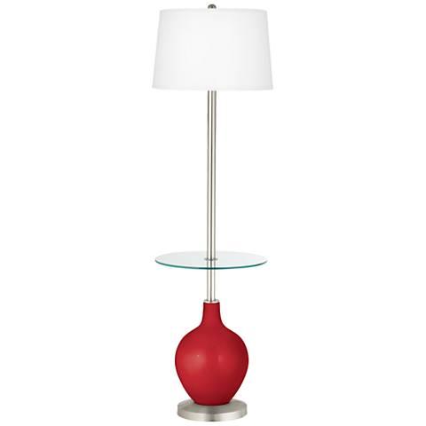Sangria Metallic Ovo Tray Table Floor Lamp