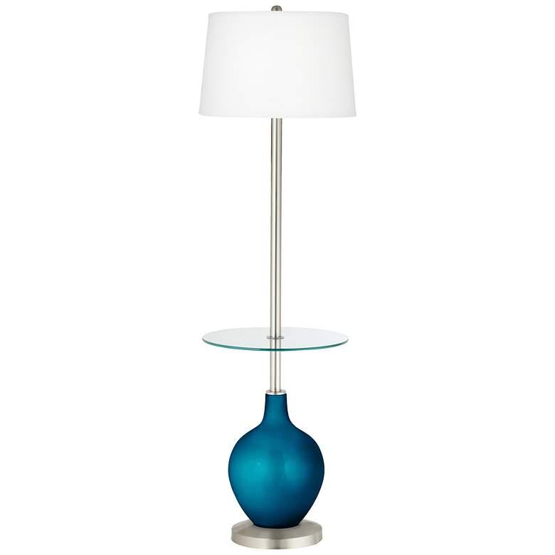 Baja Metallic Ovo Tray Table Floor Lamp