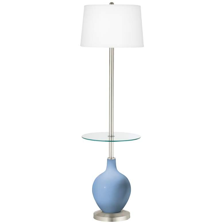 Placid Blue Ovo Tray Table Floor Lamp