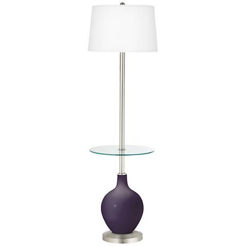 Quixotic Plum Ovo Tray Table Floor Lamp