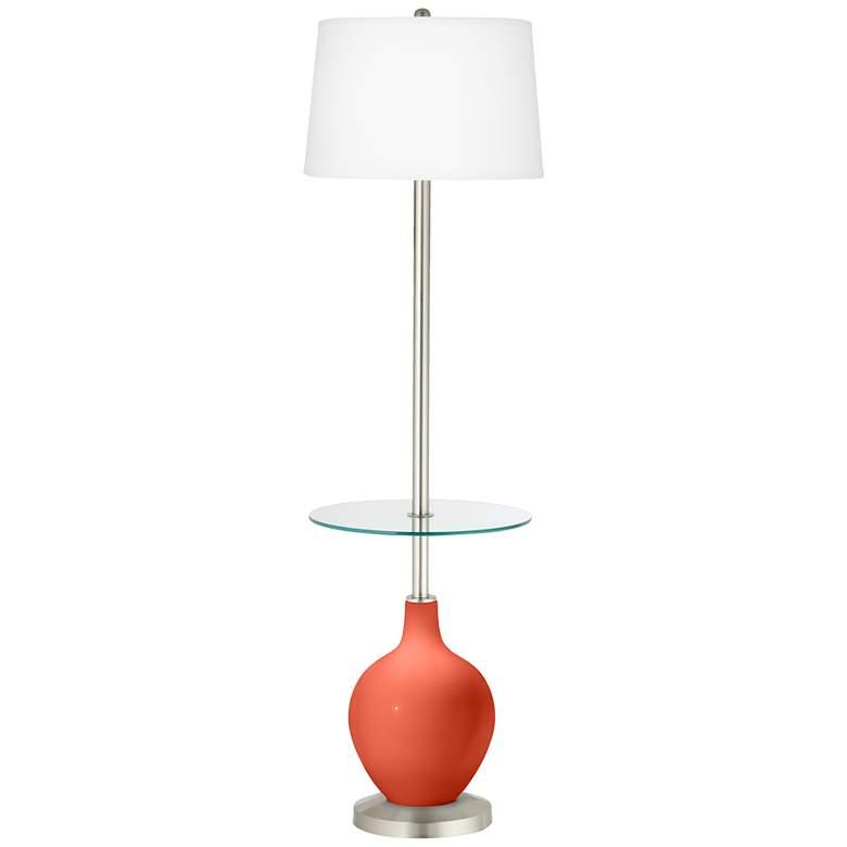 Daring Orange Ovo Tray Table Floor Lamp