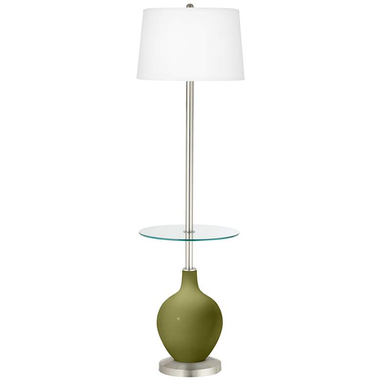 Rural Green Ovo Tray Table Floor Lamp