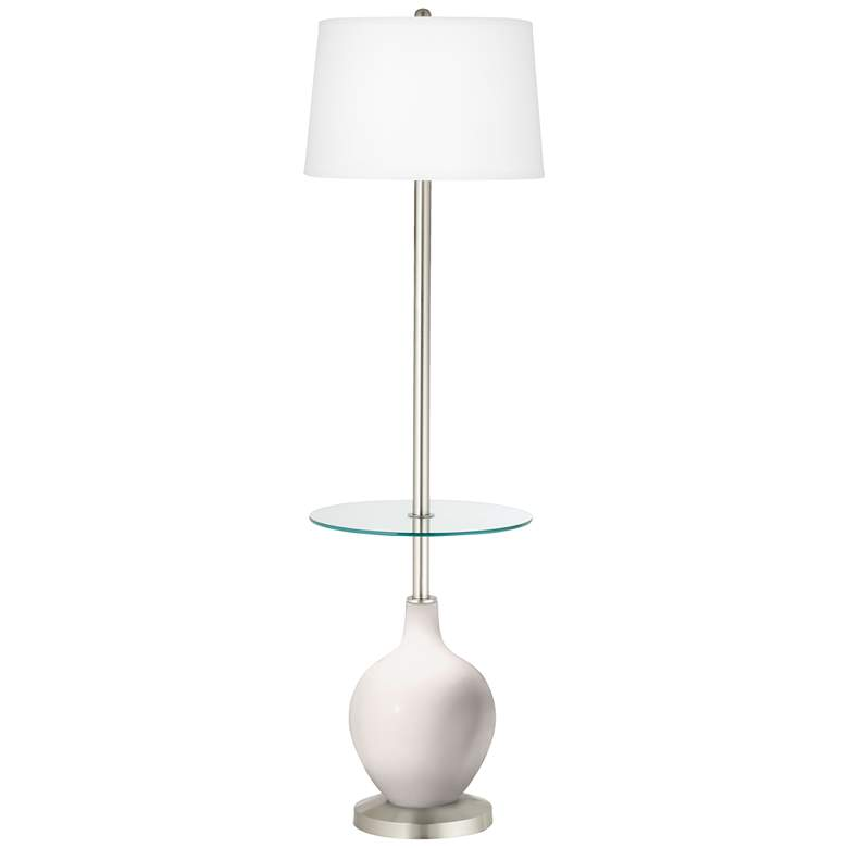 Smart White Ovo Tray Table Floor Lamp
