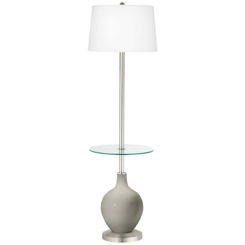 Requisite Gray Ovo Tray Table Floor Lamp