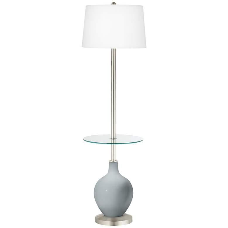 Uncertain Gray Ovo Tray Table Floor Lamp