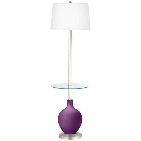 Kimono Violet Ovo Tray Table Floor Lamp
