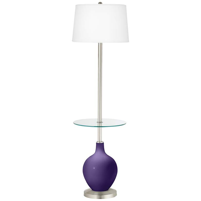 Izmir Purple Ovo Tray Table Floor Lamp