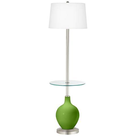 Rosemary Green Ovo Tray Table Floor Lamp