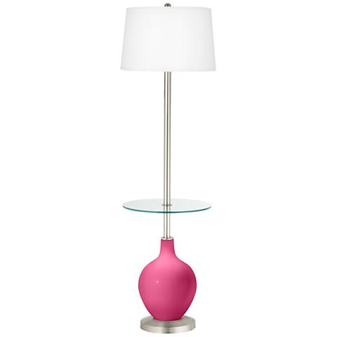 Blossom Pink Ovo Tray Table Floor Lamp