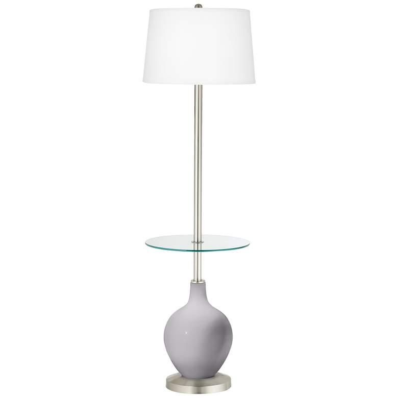 Swanky Gray Ovo Tray Table Floor Lamp
