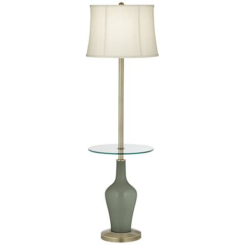 Deep Lichen Green Anya Tray Table Floor Lamp