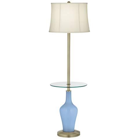 Placid Blue Anya Tray Table Floor Lamp