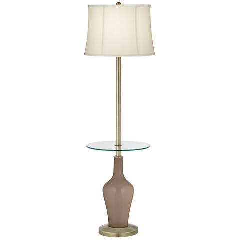 Mocha Anya Tray Table Floor Lamp