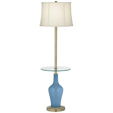 Secure Blue Anya Tray Table Floor Lamp