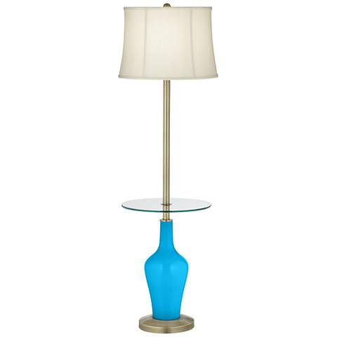 Sky Blue Anya Tray Table Floor Lamp