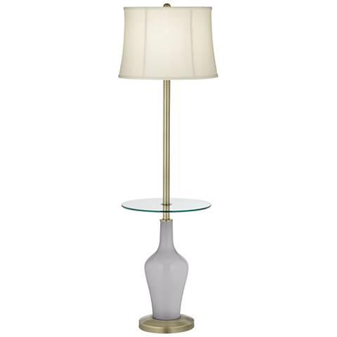 Swanky Gray Anya Tray Table Floor Lamp