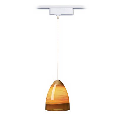 Nebbia Amber Glass Tech Track Pendant for Juno Track Systems