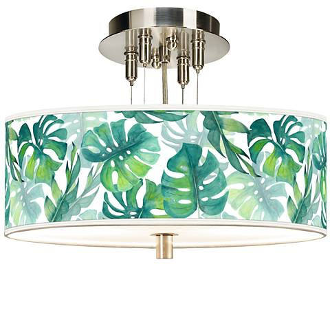 """Tropica Giclee 14"""" Wide Ceiling Light"""