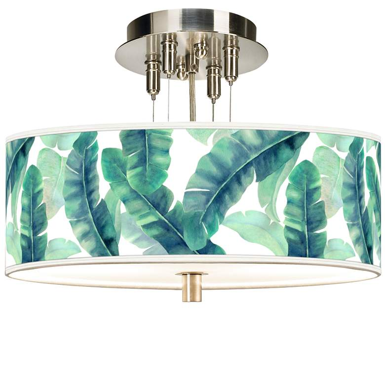 "Guinea Giclee 14"" Wide Ceiling Light"