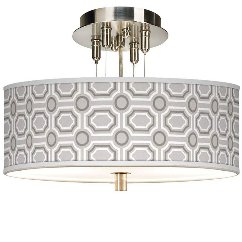 """Luxe Tile Giclee 14"""" Wide Ceiling Light"""