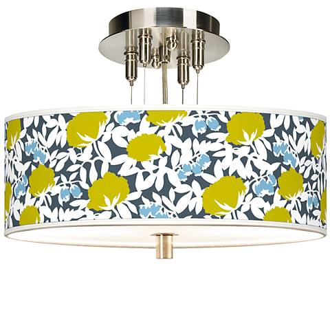 "Seedling by thomaspaul Hedge 14"" Wide Ceiling Light"