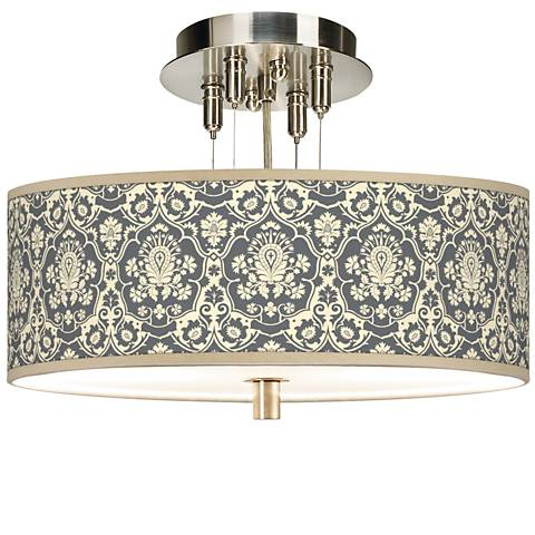 "Seedling by thomaspaul Damask 14"" Wide Ceiling Light"
