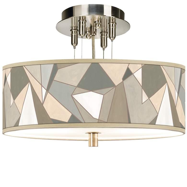 "Modern Mosaic I Giclee 14"" Wide Ceiling Light"