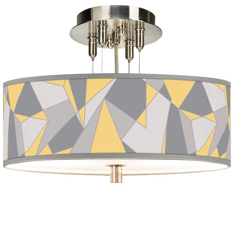 "Modern Mosaic II Giclee 14"" Wide Ceiling Light"