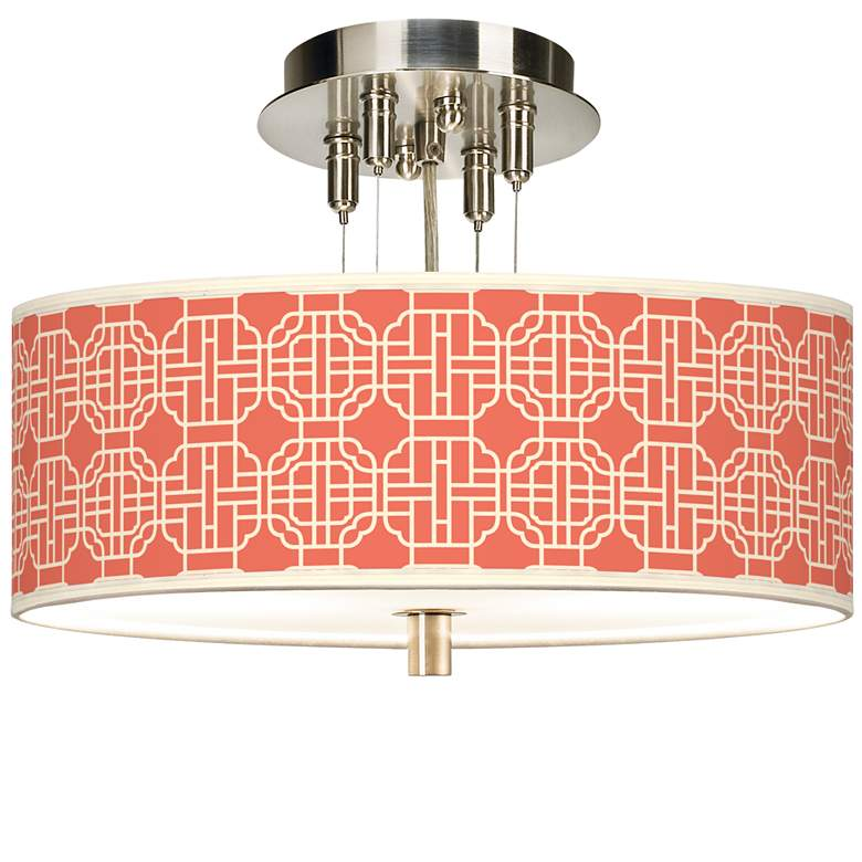"Mandarin Giclee 14"" Wide Ceiling Light"