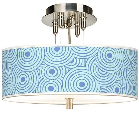 "Circle Daze Giclee 14"" Wide Ceiling Light"