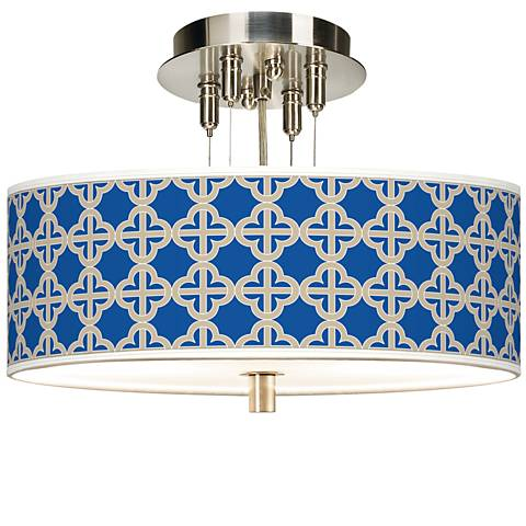 """Four Corners Giclee 14"""" Wide Ceiling Light"""