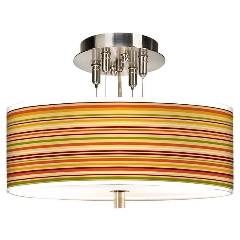 "Stacy Garcia Harvest Stripe Giclee 14"" Wide Ceiling Light"