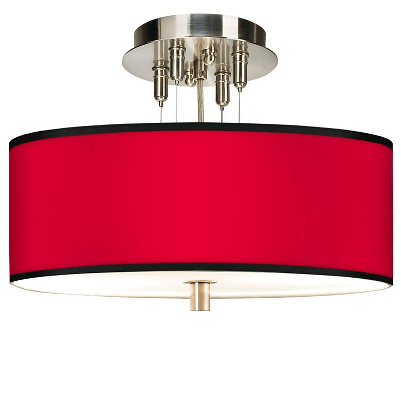 """All Red Giclee 14"""" Wide Ceiling Light"""