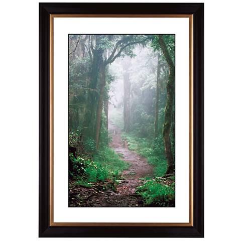 "Misty Forest Giclee 41 3/8"" High Wall Art"