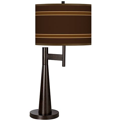 Saratoga Stripe Giclee Novo Table Lamp