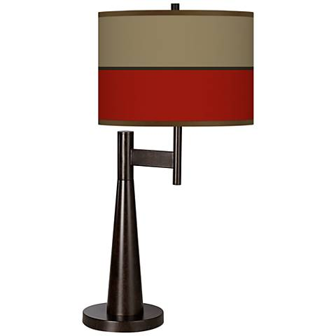 Empire Red Giclee Novo Table Lamp