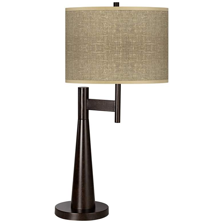 Burlap Print Giclee Novo Table Lamp