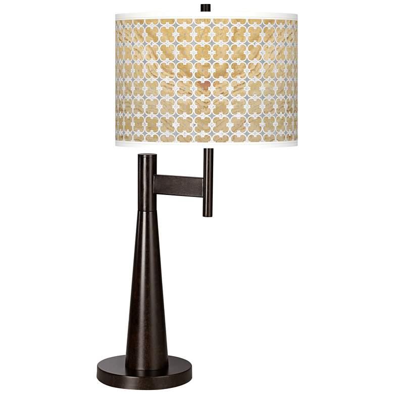 Marble Quatrefoil Giclee Novo Table Lamp