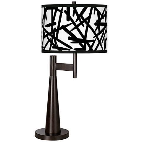 Sketchy Giclee Novo Table Lamp