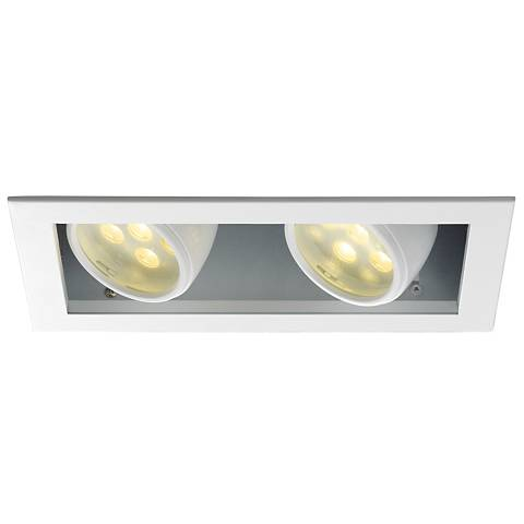 WAC LEDme® Double Spotlight Recessed Trim with Housing