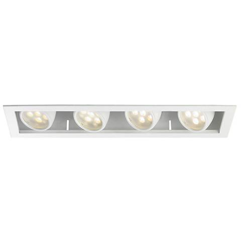 WAC LEDme®  25 Degree  4-Light Recessed Trim with Housing