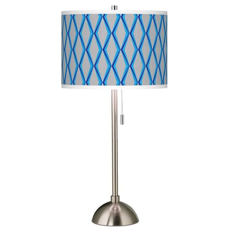 Bleu Matrix Giclee Brushed Nickel Table Lamp