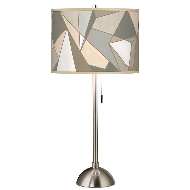 Modern Mosaic I Giclee Brushed Nickel Table Lamp
